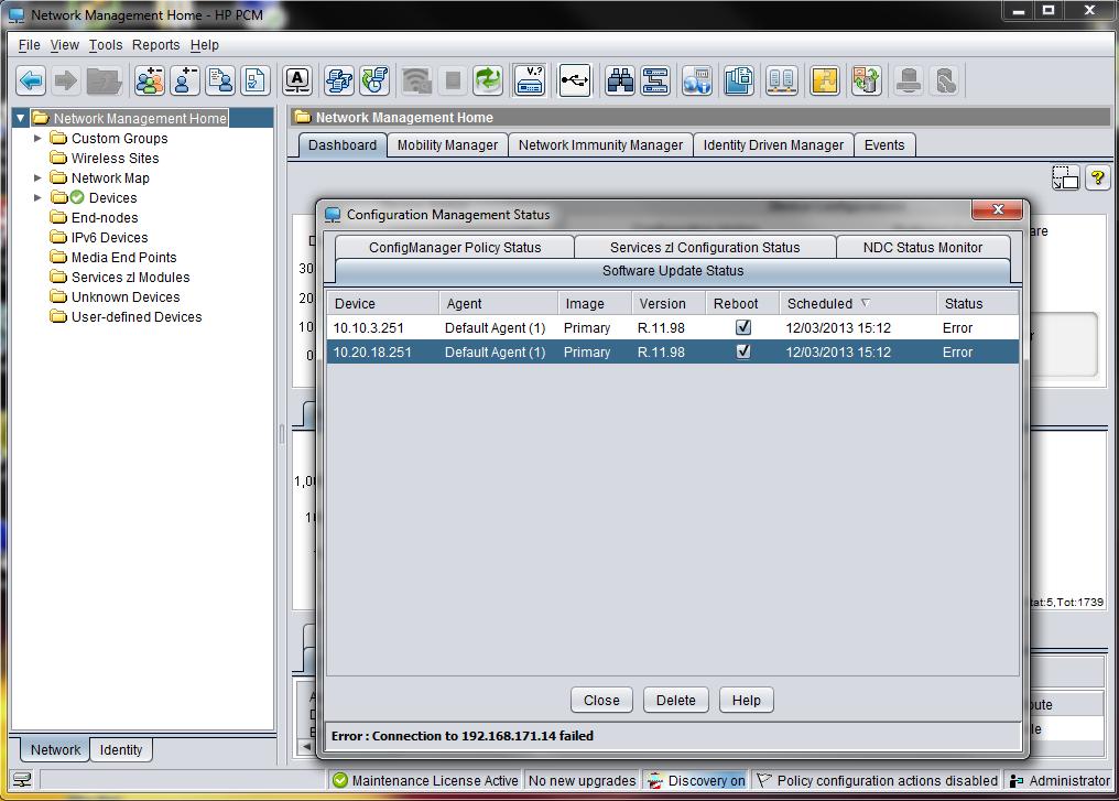 hp procurve manager software download