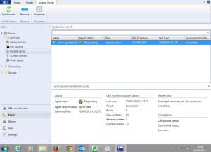 SCVMM Update Server config