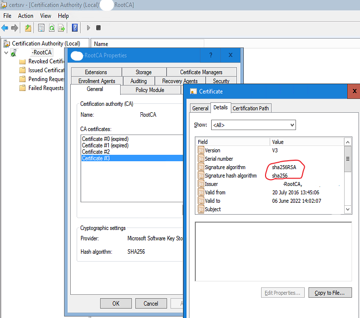 Upgrading Windows PKI from SHA1 to SHA2 – It's always MY problem